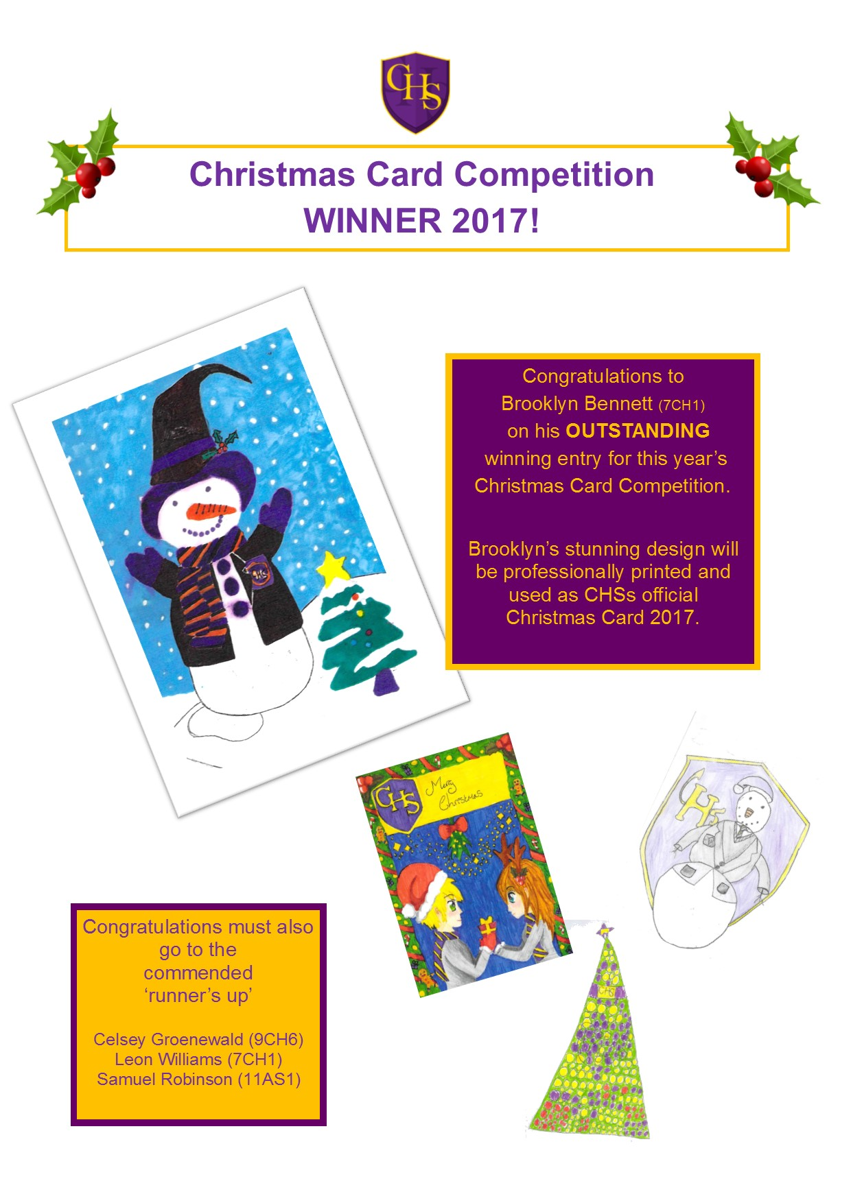 Perfect XMAS CARD COMP WINNER 2017   Website